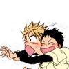 aim_and_hit: Tajima glomps a panicked Mihashi. (Tajima/Mihashi)
