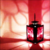 ladymondegreen: A red lantern throwing light over a small room (Shedding Light)