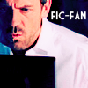 athousandsmiles: House on his laptop. (fic fan)