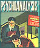 vass: Psychoanalysis comic book cover: an analyst watches a man crying (psych again)