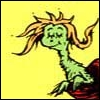 melannen: A small yellow furry creature poking insouciantly out of a pocket. (seuss)