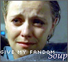 "vass: Wet miserable Sam Carter wrapped in blanket, caption ""Give my fandom soup"" (Soup)"