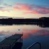 jesse_the_k: Flannery Lake is a mirror reflecting reds violets and blues at sunset (Rosy Rhinelander sunset)
