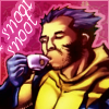 tsukinofaerii: Wolverine sipping tea. Snoot Snoot (Snoot Snoot)