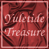 "rebecca2525: text ""yuletide treasure"" in front of red fabric (yuletide)"