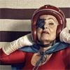 kittenspyjamas: Old lady in superhero helmet (Default)