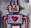 omens: love robot in watercolours (misc - love robot)