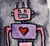 omens: love robot in watercolours (misc - love robot)