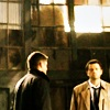lilyleia78: Dean and Cas standing together (Supernatural: On the streets)