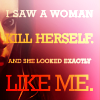 "orphan_black: Colorful icon of Sarah, ""I saw a woman kill herself. And she looked exactly like me."" (pic#6850137)"