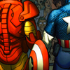 perpetual_motion: tony and steve are besties (totally holding hands behind the shield)