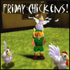 ambersweet: Link holding a chicken! (Friday Chicken)