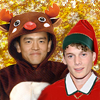 kittenspyjamas: Chekov & Sulu in Christmas costumes (christmas)