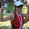 figment: Photo from when I just finished a triathlon and felt victorious! (triathlete)