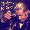"sophia_sol: Jack Aubrey lifting a glass, with text that says ""I'll drink to that"" (M&C: Jack: I'll drink to that)"
