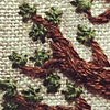 aquaprofunda: embroidered branches with leaves (embroidery)