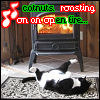 iamstillhere: A cat sprawled on his back, nuts up. Text: Catnuts roasting on an open fire. (Catnuts)