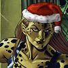 bluefall: Barbara Minerva in a Santa hat (festive Minerva)