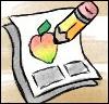 nanomango: a cartoon pencil drawing a mango on a comic page (Nanomango)