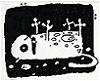 credoimprobus: cartoon cat feigns death (lollerskates)