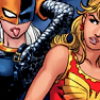 mona: Rose Wilson and Cassie Sandsmark. Rose Wilson is sticking her tongue out , & I feel this exemplifies their relationship (rose/cassie)