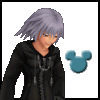 tyger: Riku's grinning sprite from Re:coded, mickey stamp next to him. (MICKEY STAMP OF WIN)
