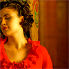 silveraspen: audrey horne in a red blouse leaning back against a post (twin peaks: she looks better in red)