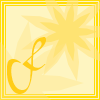 keaalu: Yellow square with yellow flower for Friday (Day - Friday)