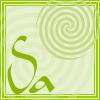 keaalu: Bright green square with bright green swirl for Saturday (Day - Saturday)