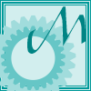 keaalu: Turquoise square with turquoise cogs for Monday (Day - Monday)