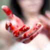 rubyprism: Her bloodied hands reach towards you pleadingly. (reaching desperately)