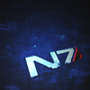 eleanorjane: N7 special ops logo from Mass Effect video game (n7)