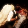 bethmccombs: Image of an angel kissing a man in an office manipulated to be Jack and Ianto (Torchwood - Jack & Ianto - Angel Kiss)