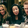twtd: Teddy/Cristina/Owen at at table being OT3-y (Grey's Anatomy- OT3)