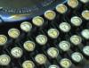 novapsyche: a manual keyboard tinged with teal (tealtypewriterkeys)
