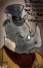 "vixenmage: A disgruntled rhino; I promise you sir, your slight does NOT go unnoticed."" (Rhino)"