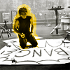 turlough: Gerard Way drawing big sign, photoshoot for Uncle Sally*s (German magazine) autumn 2010 ((mcr) creativity)