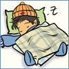 cesare: A cute cartoon of John Sheppard asleep (sga - j&r - sleeping john by chkc)