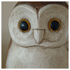 owl: Stylized barn owl (spoon)