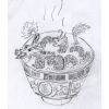 pameladlloyd: 10000 Golden Dragons Mushroom Soup, an original sketch by asakiyume (10000 Golden Dragons Mushroom Soup)