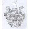 pameladlloyd: 10000 Golden Dragons Mushroom Soup, an original sketch by asakiyume (10000 Golden Dragons Mushroom Soup)
