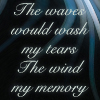 "pameladlloyd: ""The waves would wash my tears / The wind my memory,"" lyrics sung by Loreena McKennit (tears and memory)"