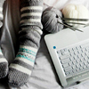 pennyplainknits: image of yarn and laptop (Default)