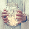 lucidlucy: [hands holding a jar filled with lit stars] (stars in a jar)