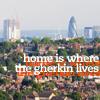 hippyjolteon: London skyline; caption: 'home is where the gherkin lives' (Misc: London <3)