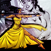 chaila: Diana SWORDFIGHTING in a BALLGOWN. (orphan black - silhouette)