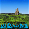 "alexseanchai: Green grass, blue sky, stone tower in distance, caption ""Ashes of Honor"" (Toby Daye Ashes of Honor deep Faerie)"