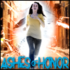 "alexseanchai: White teen girl running from hole in reality, caption ""Ashes of Honor"" (Toby Daye Ashes of Honor Chelsea)"