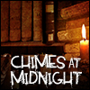 "alexseanchai: Stack of books and books on shelves, caption ""Chimes at Midnight"" (Toby Daye Chimes at Midnight library)"