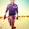 turlough: Party Poison (Gerard Way) in the desert, behind the scenes of the Na Na Na video, Sept 2010 ((mcr) drop like a bullet shell)